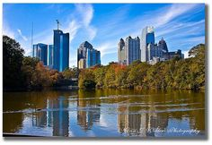 Piedmont Park, Mid-town view from the lake. Atlanta, GA by AW | Photography, via Flickr