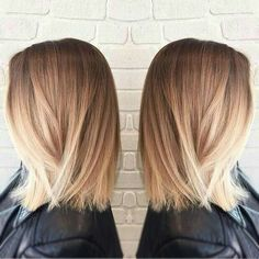 Mediun hair length, medium hair style, blonde hair, balayge, ombre color