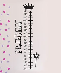 Take a look at this Black 'Princess' Growth Chart Wall Decal on zulily today!