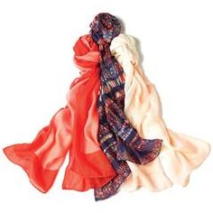3-Pack Earth-Tone Scarves