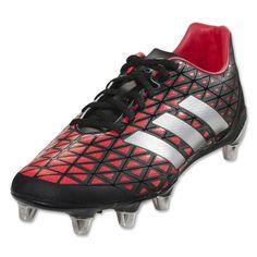 Adidas Kakari SG Rugby Boots (Core Black Silver Metallic Shock Red) 16eaa1ae2797b