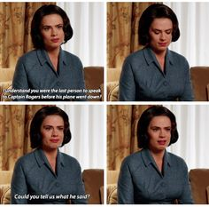 An outtake from CATWS from the Smithsonian scene. Very insightful and painful scene. Whole clip can be found here: http://historicalagentcarter.tumblr.com/post/138863745796/eatingcroutons-peggy-carters-1951-interview<<<Copy and paste this link and be prepared to cry your eyes out!! On another note, I love how the interviewer is a Russo brother. I can recognize his voice anywhere!!