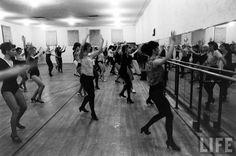 Rockettes Radio Music Rehersal Hall . 1964 . Photo by Arthur Rickerby