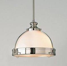 Restoration Hardware. Seriously love this light fixture for a kitchen.