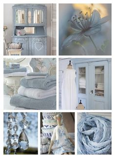 Love Collage, Color Collage, Beautiful Collage, Cottage Shabby Chic, Cottage Style, Collages, Shabby Chic Romantique, Feel Good Pictures, Blue Bedroom