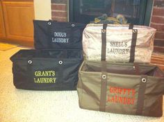 Personal laundry totes!  (large utility tote)  AWESOME idea for your college kids!  http://www.mythirtyone.com/ksquared
