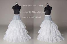 NEW White 3 Hoop Petticoat Skirts Crinoline Underdress Party Slips For Bride