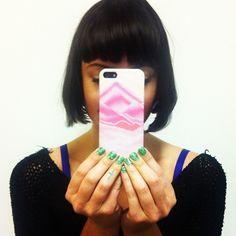 Trifecta of awesomeness: Sophia Amoruso, glittery nails & a Nasty Gal iPhone case