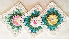 """""""The Blooming Granny Square pattern is perfect for stash-busting and using up little odds and ends of yarn."""""""