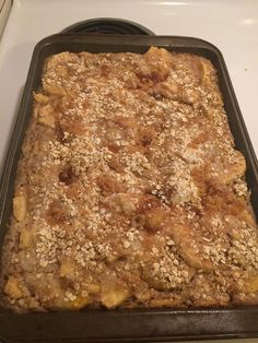 Serena's Apple Pie Cake with Crumble Topping  http://cookingwithserena.com/?p=1112769