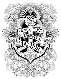 anchor free and printable coloring page by karma gifts
