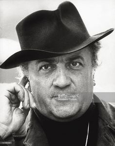 b2d0dc55292 Close-up of the director Federico Fellini on set of  Amarcord . Rome