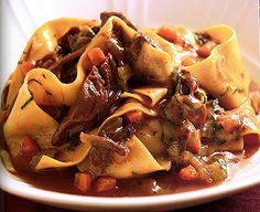 Recipe: Pappardelle with Braised Lamb Shank and Fontina - Recipelink.com