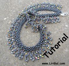 Julia SuperDuo Beadwork Necklace PDF Tutorial par Lirigal sur Etsy