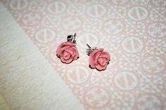 Rosy Cheeks Rose Stud Earrings by onetenzeroseven @Etsy! £3 http://www.etsy.com/listing/72102568/rosy-cheeks-stud-earrings