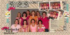Mustache Gang by DLeeBug, as seen in the Club CK Idea Galleries. #scrapbook #scrapbooking #creatingkeepsakes