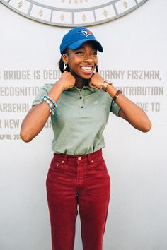 Little Simz is perfectly styled and happy in her this weekend. Lacoste Polo, Polo Shirt Women, Hip Hop Artists, Hip Hop Fashion, Black Girl Magic, Daily Wear, Hiphop, Art Reference, Sims