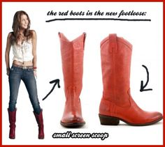 Frye makes the iconic red boots worn in the footloose remake Footloose Remake, Footloose 2011, Red Cowboy Boots, Red Boots, Jeans And Boots, Country Girl Style, Country Farm, Country Life, Fashion Tv