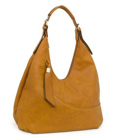 LOVE THIS -Look what I found on #zulily! Cognac Adjustable-Strap Hobo by Rebecca & Rifka #zulilyfinds