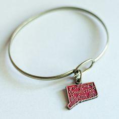 Connecticut Love Charm Bracelet by gleefulpeacock on Etsy