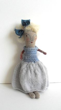 Trudy - A Winter folk art doll