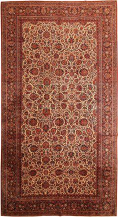 Antique Kashan Persian Rug 43522 Detail/Large View - By Nazmiyal