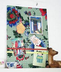 101 Woonideeën - prikbord van stof en linnen