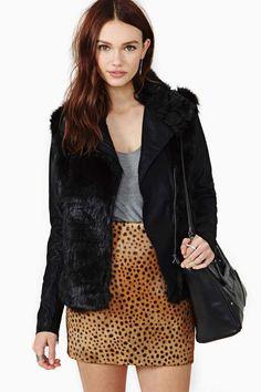 Blank NYC Lie Faux Fur Leather Jacket