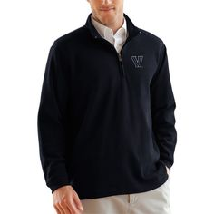 Villanova Wildcats Flat Back Rib-Knit 1/4 Zip Sweater – Navy - $59.99
