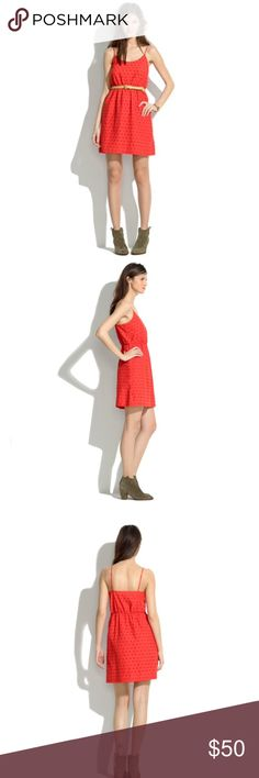 Madewell Red Eyelet Dress Purchased from another posher but was too big for me. It's labeled a 4 but would fit an 8 much better. Picture of dress coming soon. Madewell Dresses
