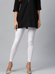 Checkout this latest Leggings Product Name: *Sakhi Shine Ankle Length Cotton Legging* Fabric: Cotton Lycra Pattern: Solid Multipack: 1 Sizes:  28, 30 (Waist Size: 30 in, Length Size: 38 in)  32, 34, 36, 38, 40, 42, 44 Country of Origin: India Easy Returns Available In Case Of Any Issue   Catalog Rating: ★3.9 (289)  Catalog Name: Fashionable Feminine Women Leggings CatalogID_2033476 C79-SC1035 Code: 382-10977259-936