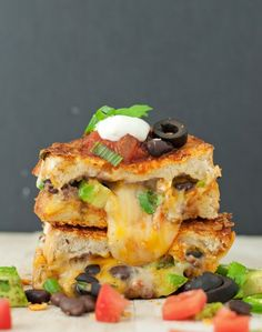 Loaded Nacho Grilled Cheese Sandwich... Knocking two cravings out in one go!
