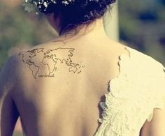 map tattoo on shoulder - 25 Awesome Map Tattoos  <3 <3
