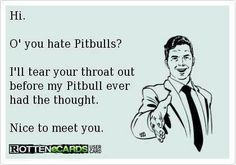 Unlike people, I never met a Pit Bull I didn't like.