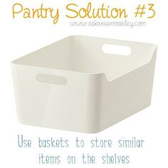 Here are 4 simple tips to help you with your pantry organization.
