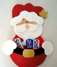 Navidad Christmas Crafts, Christmas 2017, Santa Clause, Xmas Ornaments, Pillow Shams, Christmas Ornaments, Jelly Beans, Handmade Christmas Crafts, Xmas Crafts