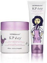Contains all you need to control the symptoms of Keratosis Pilaris. Includes one KP Duty Dermatologist Body Scrub with Chemical + Physical Medi-Exfoliation and one KP Duty Dermatologist Moisturizing Therapy For Dry Skin.