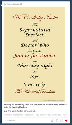 Hannibal: Invitation