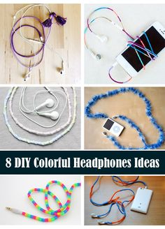 8 DIY Colorful Headphones Ideas