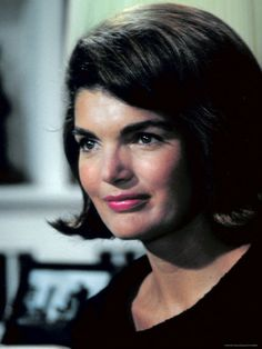 Candid Portrait of Former First Lady Jackie Kennedy in Her Georgetown Living Room by George Silk