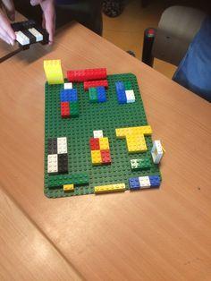 Plattegrond van de klas maken doormiddel van Lego