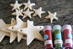 salt dough star garland and ornaments