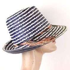 Vintage Striped Beach Hat