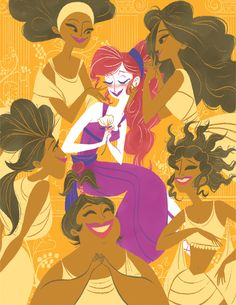 """She+Won't+Say+It (Inspired+by+Disney's+Hercules)  Artist: Katherine+Kuehne  Format:+Giclée+Art+Print Dimensions:+11""""+x+14"""" Markings:+Signed+&+Numbered+ Edition+Size:+15  Event:+Guzu+Gallery+Presents+—+Frame+That+Toon"""