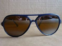 Vintage RARE  SUNCLOUD SCR Aviator  Double Bridge Sunglasses Navy Blue MIRROR - $49.95 - http://www.12pmsunglasses.com/on-sale/Vintage-Suncloud-Sunglasses-Scr.html