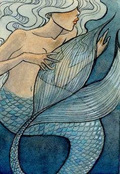 Blue tail Mermaid