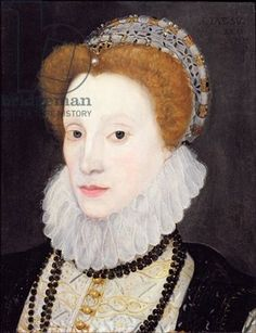 Portrait believed to be of Elizabeth I. She does seem to resemble Anne Boleyn except for her father's hair.