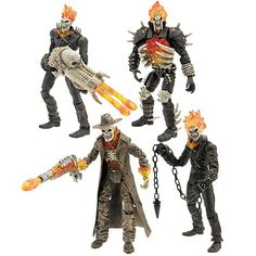 action toys | Rider Action Figures Wave 1 - Hasbro - Ghost Rider - Action Figures ...