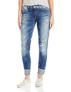 Silver Jeans Womens Girlfriend Jean Indigo 34 *** Learn more by visiting the image link. (Note:Amazon affiliate link)