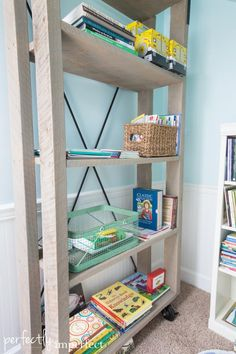 Industrial Shelves Playroom